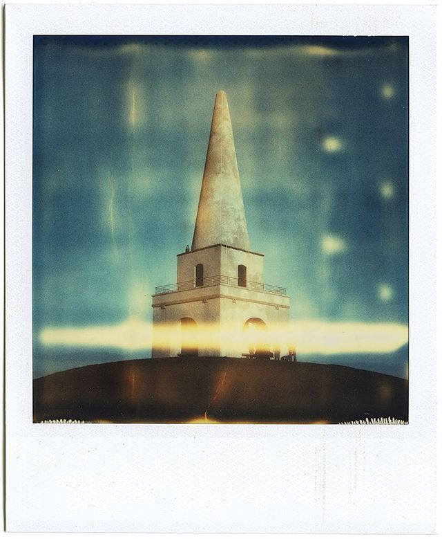 Killiney obelisk - iconic sight from southern Dublin area. Browsing through my old Polaroids..