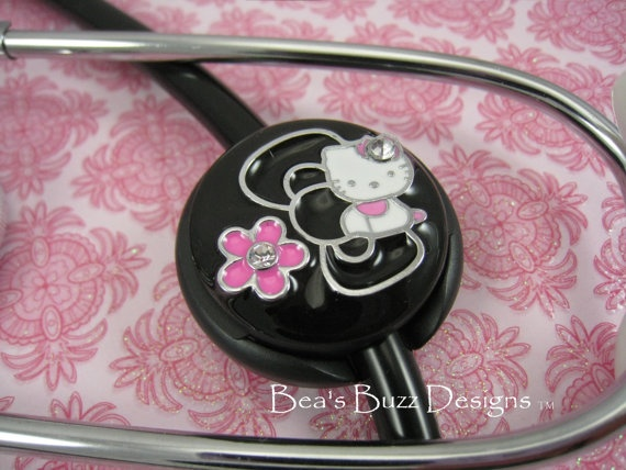 Hello Kitty Stethoscope Id Tag SPRING KITTY by B…  83bec2f17996a