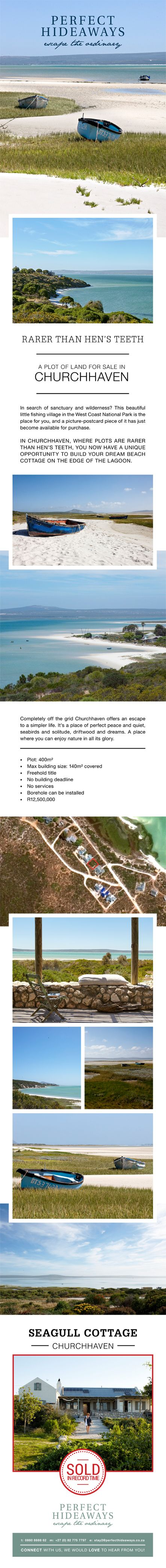 Picture-postcard piece of land has just become available for purchase in Churchhaven!