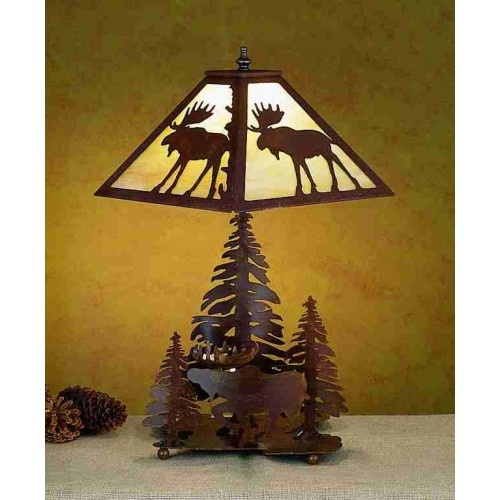 Ironwood Moose Table Lamp