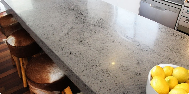 Kitchen Island Bench made from Concrete - Transitions Polishing and Grinding