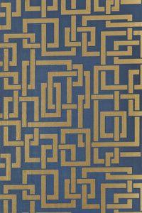 Geometrisch Behang Farrow and Ball Enigma- Latestand Greatest  Het geometrischbehang Farrow and Ball Enigma heeft een prachtig geometrisch patroon van vierkanten die in elkaar grijpen.   Beha...