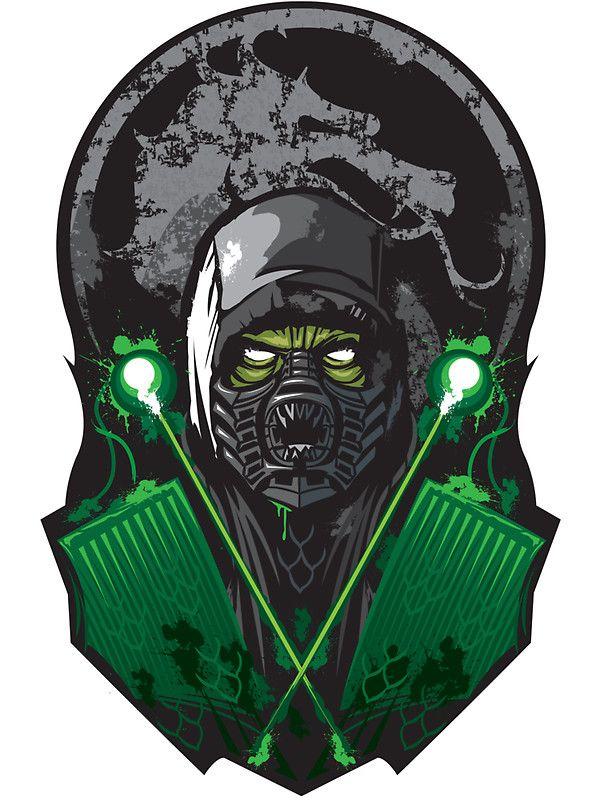 """""""REPTILE-MORTAL KOMBAT"""" Stickers by Alienbiker23   Redbubble"""