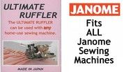 Buy your Janome Ultimate Ruffler accessories online for ruffled or pleated gathering at Bargain Box