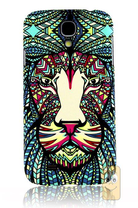 Luxo Samsung Galaxy S4-i9500 Özel Tasarım Aslan Desenli Rubber Kılıf