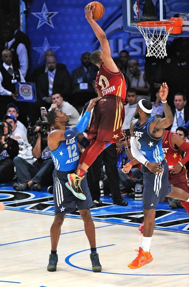 Russell Westbrook Dunking On Lebron