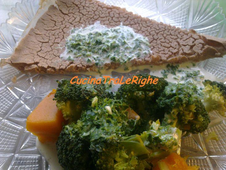crespella di sorgo rosso e verdure