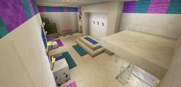 Minecraft Bathroom Pink Girl Wallpaper Wall Design Shower Sink Bath Tub  Toilet | Minecraft Creations | Pinterest | Bathroom Pink, Toilet And Minecraft  Ideas