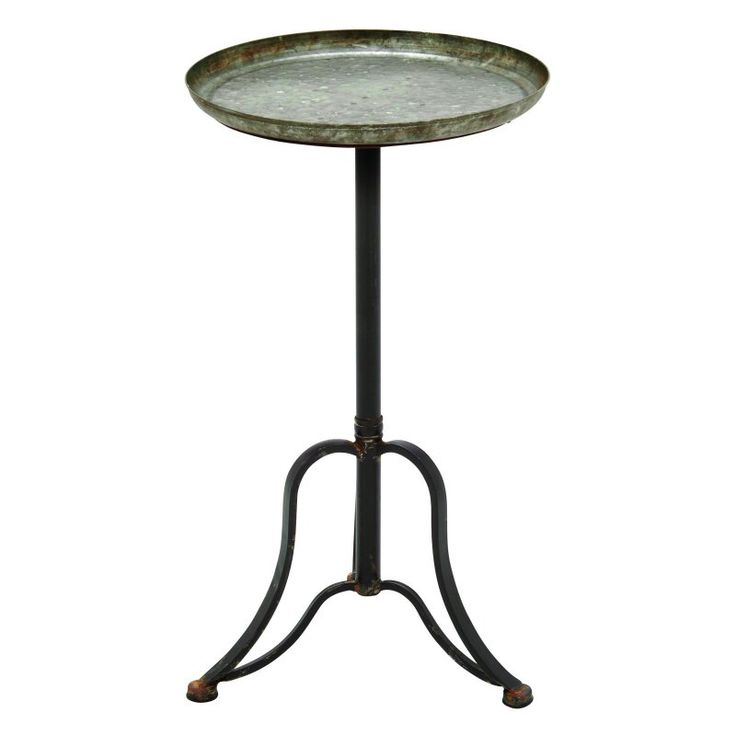 Elegant Benzara Vintage And Stylish Metal Accent Table   93948