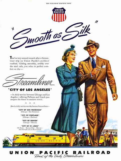 Union Pacific Railroad - City of Los Angeles - Vintage Rail Advertising