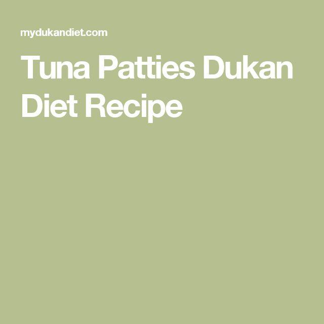 Tuna Patties Dukan Diet Recipe