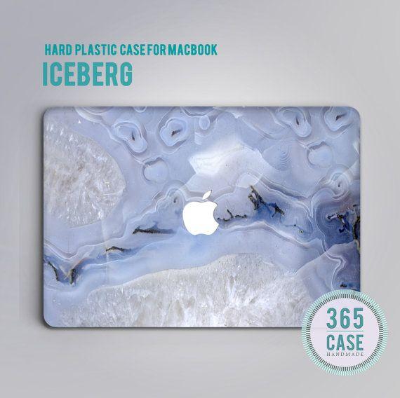 Hard Plastic MacBook pro 13 Case Marble Purple Macbook by 365case