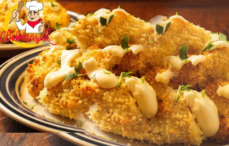 Resep Ayam Isi Keju Saus Krim, Sajian Keju Krim, Club Masak