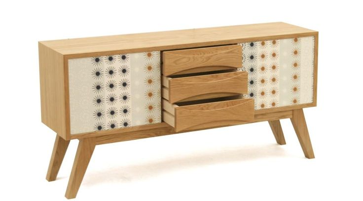 Nick James, a furniture designer and maker, used Younique® by Formica Group* laminate to clad a 1950's style furniture piece