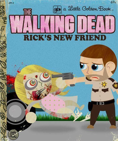 The Walking DeadBedtime Stories, The Walks Dead, Little Golden Book, The Walking Dead, Zombies Apocalyps, Kids Book, New Friends, Random Acting, Children Book