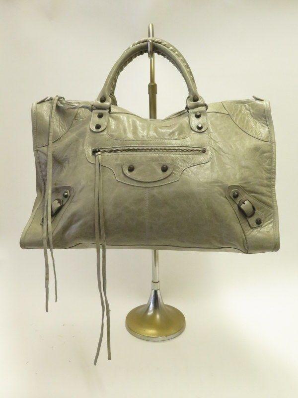 e443f2f049 Balenciaga Work Bag Argent Leather Classic Arena Hardware Large Satchel # Balenciaga #Satchel