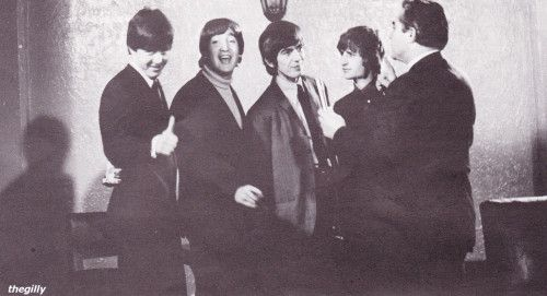 The Beatles being interviewed at the St George Hotel in Wellington, 21 June 1964.