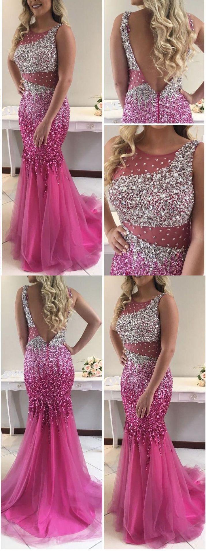 Mermaid prom dresses with shine beaded,long prom dresses,pageant dresses,mermaid evening dresses