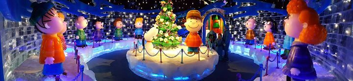 """CollectPeanuts.com on Facebook - Carrie shares """"We met Snoopy Charlie Brown and Lucy last year at Gaylord Palms Resort in Orlando FL. We had breakfast with them and walked through their annual ICE show which featured the entire Peanuts gang.""""  Where do you visit Snoopy? Post photos of your travels on the CollectPeanuts.com Facebook wall."""