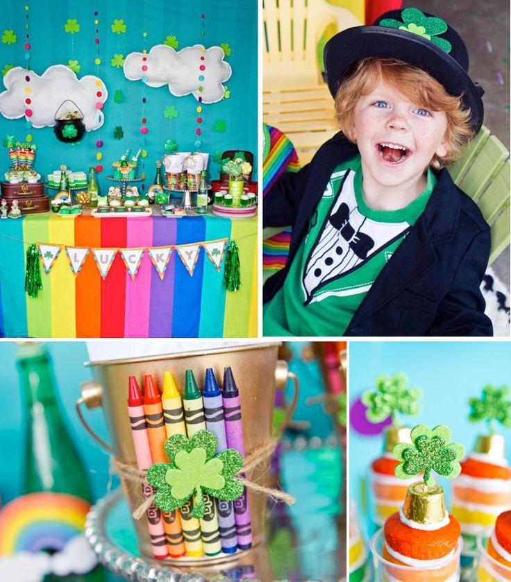 St Patricks Day Green Rainbow Girl Boy Party Planning Printables Ideas