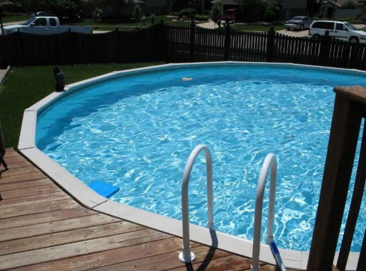 75 best pool ideas images on pinterest ground pools for Above ground pool decks attached to house
