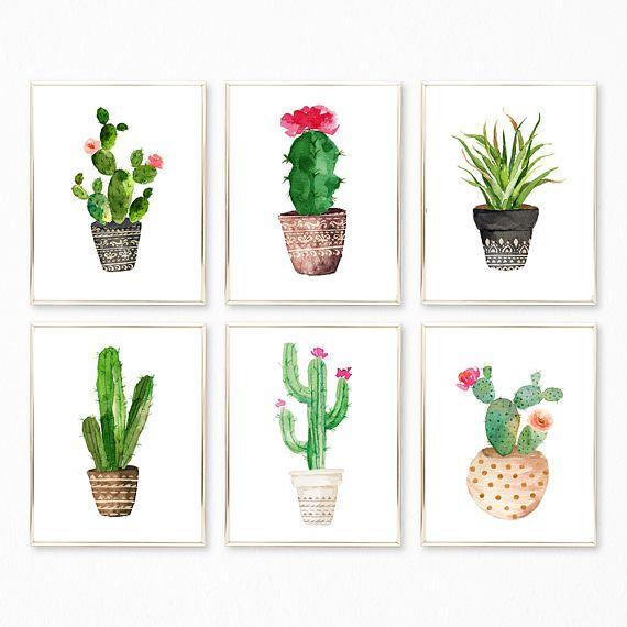 Sukkulente Drucke, Sukkulente Set, Sukkulente Wandkunst, Kaktus Print, Sukkulente Sets, Sukkulente Dekor, Sukkulente Ausdrucke, Kaktus Kunstdrucke – Jennifer Ni