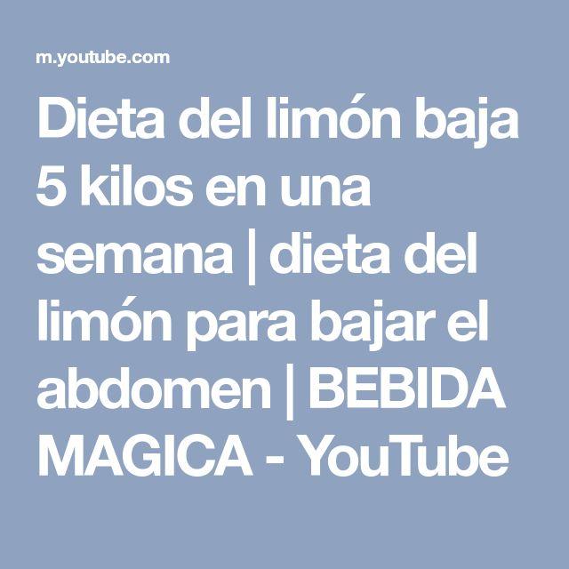 Dieta del limón baja 5 kilos en una semana | dieta del limón para bajar el abdomen | BEBIDA MAGICA - YouTube