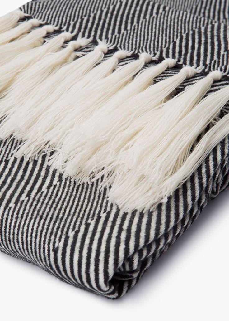 Tweekleurig gestreepte sjaal