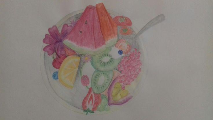 Yummy fruit salad art