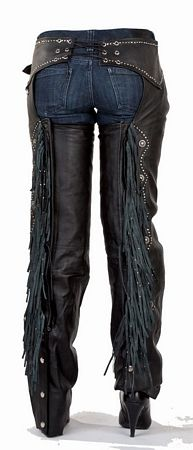 Ladies Fringe, Studs Leather Chaps Item C324 | Leather jackets, coats, vest, apparel and more