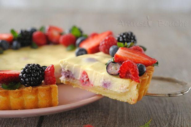 Tarte cheesecake et fruits rouges (15)