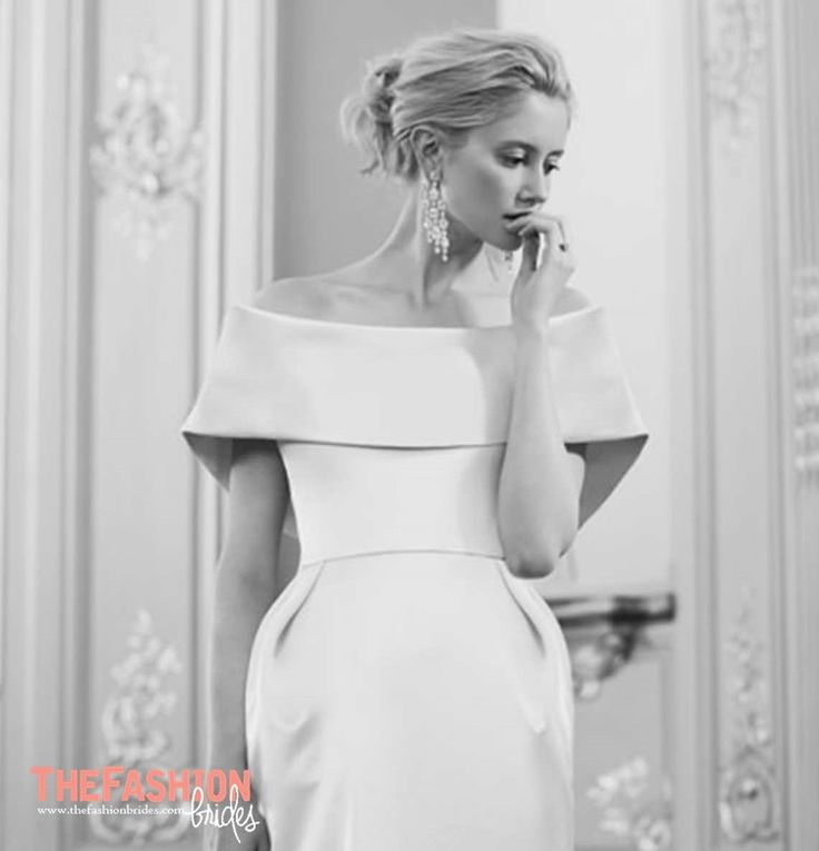 A neckline that lies gently hovering across the top of the bustline with the shoulders uncovered or able to be seen through the sheer yoke of net or organza attached to a high collar. Please contac…