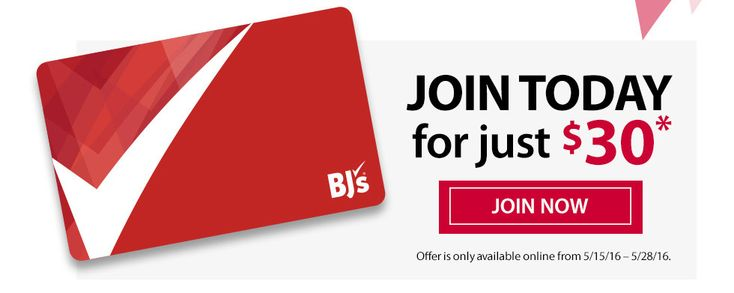 BJs Membership Discount - 1-Year for Only $30 (ONLINE ONLY til 5/28/16)…