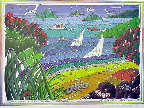 Lost for Words in the Bay of Islands by Cecilia Russell for Sale - New Zealand Art Prints