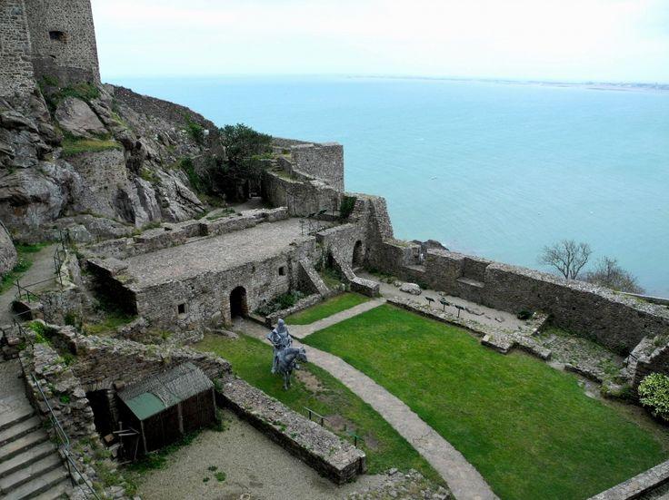 Mont Orgueil Castle at Marina Gorey, Jesrey Island #ChannelIslands #EnglishChannel #Castle #travelUK