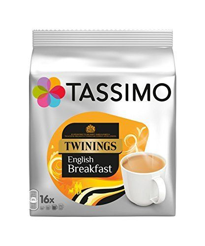 From 15.00:Tassimo Twinings English Breakfast Tea 16 Servings (pack Of 5 80 Servings/pods/discs In Total)