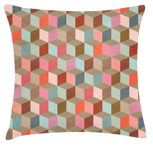 Cubic Cushion. 100% Organic Cotton and comes with a plush filler. Only $45 with Free Shipping! http://www.stoolsandchairs.com.au/cubic-cushion/