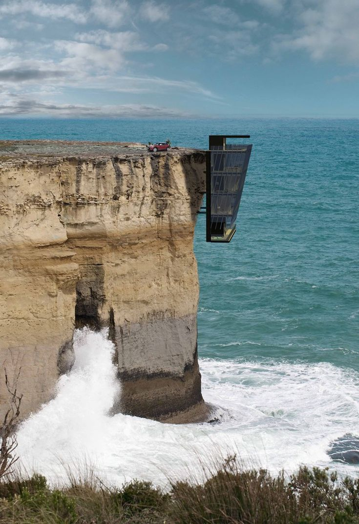 A five storey modular home clings to the side of a cliff in this conceptual design by Modscape. Entitled the Cliff House, the design is a theoretical response to clients who have approached Modscape to explore design options for extreme parcels of...
