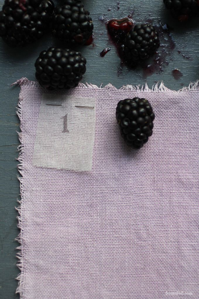 Natural dyes just have a completely different - almost living - look to them...Homemade natural fruit dye by Sania Pell