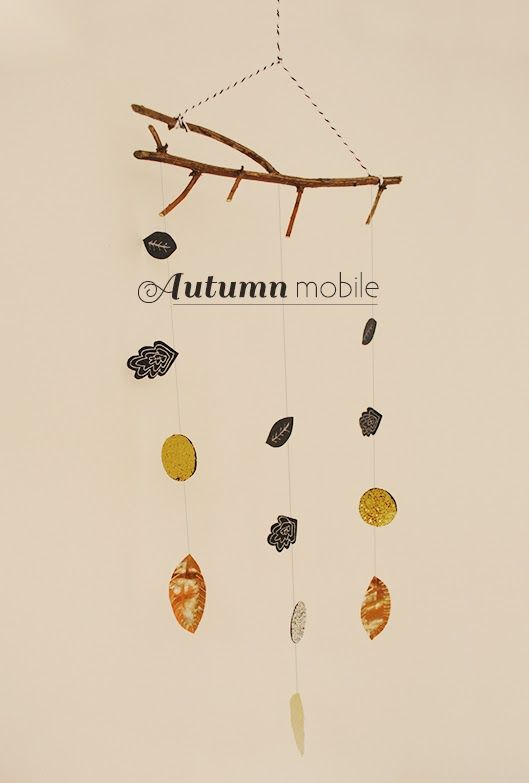 This is so darling! DIY Autumn Mobile Tutorial with downloadable template.