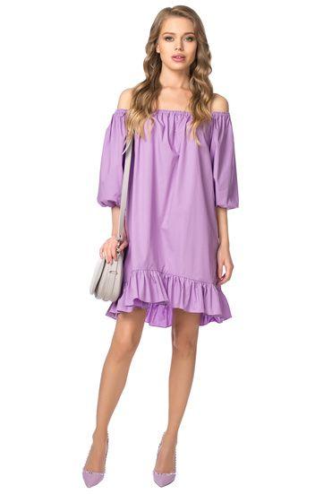 Воздушное платье с открытыми плечами и оборкой FLASHIN' / 2000000106359