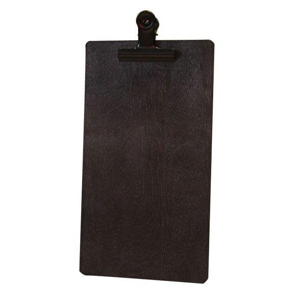Black distressed timber clipboard black clip
