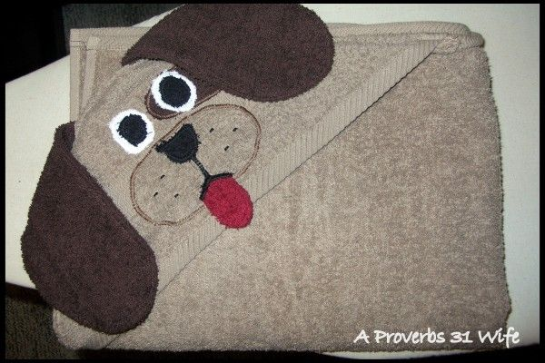 How to sew a hooded puppy towel. #howto #hoodedtowels #sewing