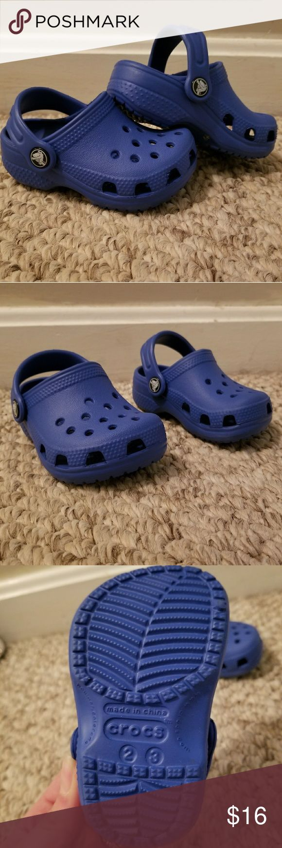 Toddler Blue Crocs Barely used toddler crocs. Size 2/3 as shown. CROCS Shoes Sandals & Flip Flops
