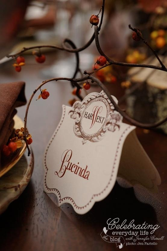 Fall Harvest Table - Place card
