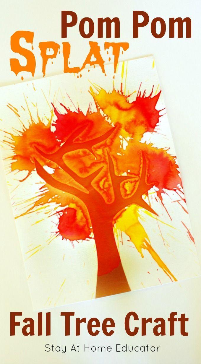 Pom Pom Splat Fall Tree Craft
