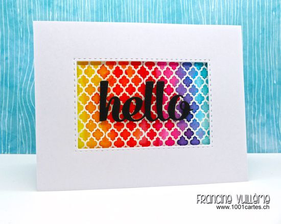 Card by Francine Vuillème (www.1001cartes.ch), The Alley Way Stamps, TAWS, Clear Stamps, Cardmaking, Diy, Crafts, Stamping. Featured Stamp Set: Bitty Borders