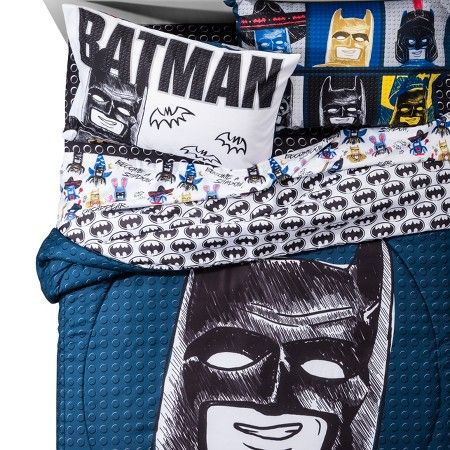 Love this bedding. Sketchy LEGO Batman Bedding from Target.