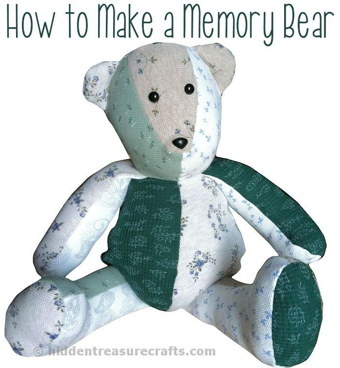 What a wonderful treasured keepsake idea - A memory bear made from a person's clothing!