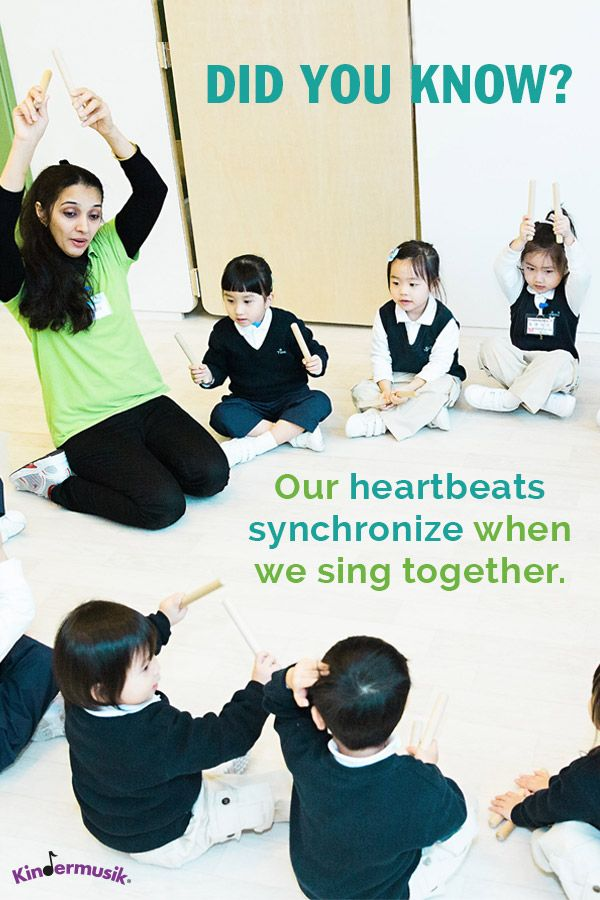 Did you know: Our heartbeats synchronize when we sing together.